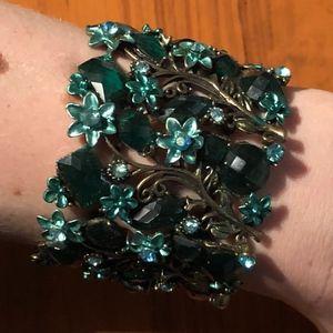 beautiful green and bronze bracelet cuff